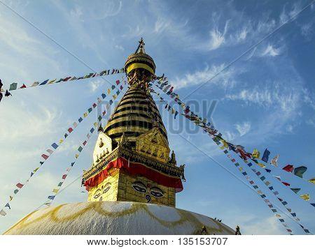 The giant boudanath stupa in Kathmandu, Nepal