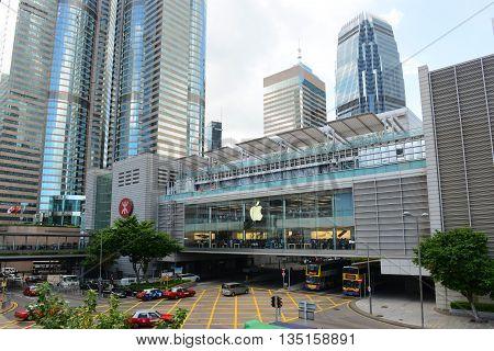 HONG KONG - NOV 9: Hong Kong One International Finance Centre (IFC1) building, IFC Mall and Central Metro Station on Nov 9, 2015 in the Hong Kong Island, Hong Kong.