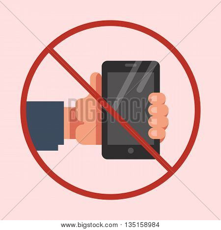 Do not use mobile phone sign. No mobile phone icon. No cell phone symbol. Vector flat illustration.