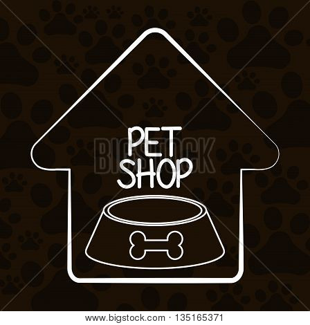 Animals pet shop graphic design, vector illustration eps10