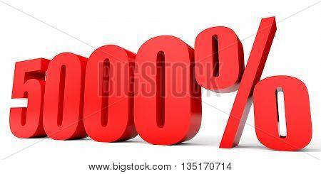 Discount 5000 Percent Off. 3D Illustration.