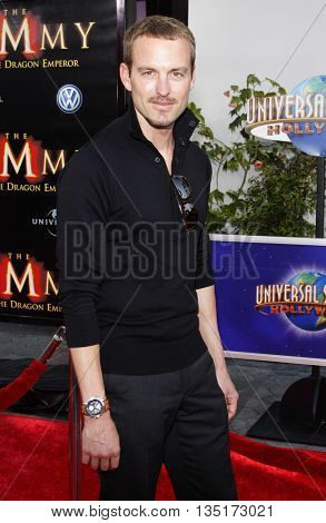 Gunner Wright at the Los Angeles premiere of 'The Mummy: Tomb Of The Dragon Emperor' held at the Gibson Amphitheatre in Hollywood, USA on July 27, 2008.