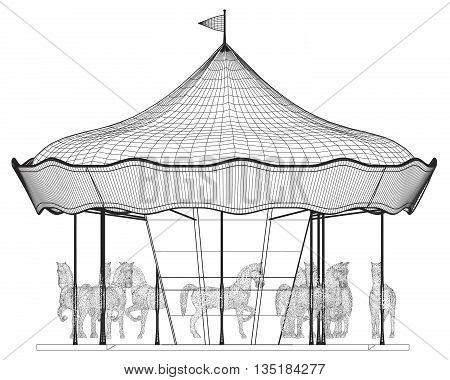 Merry-go-round Horse Carousel...