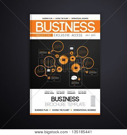 Magazine cover design, vector