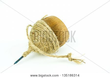 Traditional Toy - Spinning Top on white background