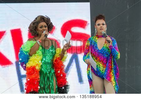 Boise, Idaho/usa - June 20, 2016: Poison Waters And Selena Blaque Hosting The Boise Pridefest