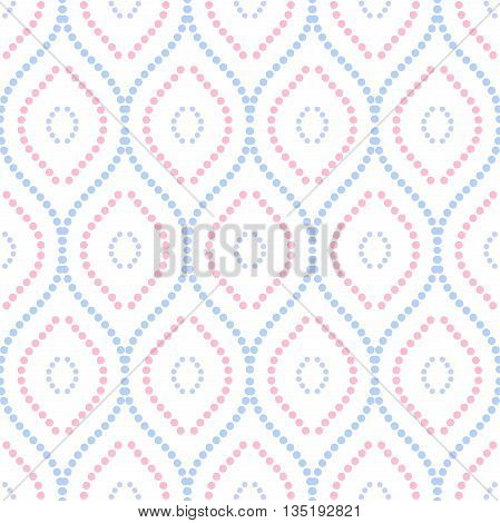 Seamless ornament. Modern geometric pattern with repeating dotted colored vertical lines
