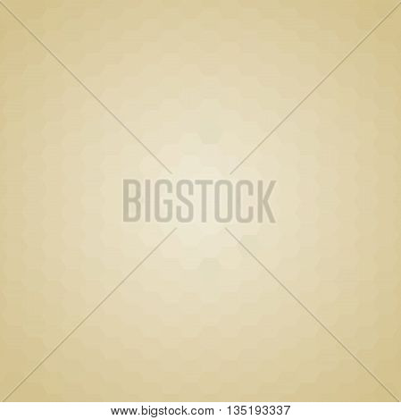 Geometric abstract background with golden hexagons. Pattern with flow effect