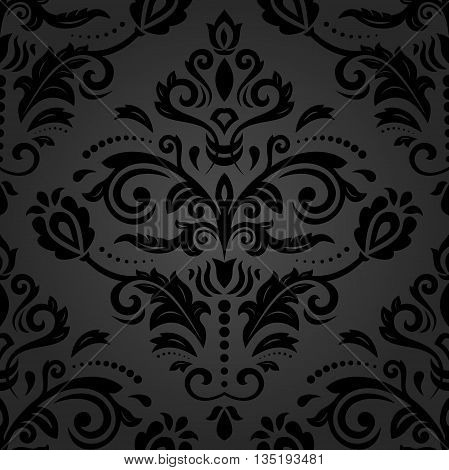 Oriental classic dark ornament. Seamless abstract background