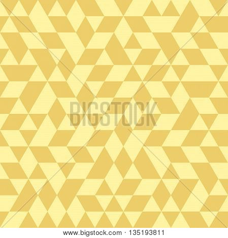 Geometric pattern with golden triangles. Seamless abstract background