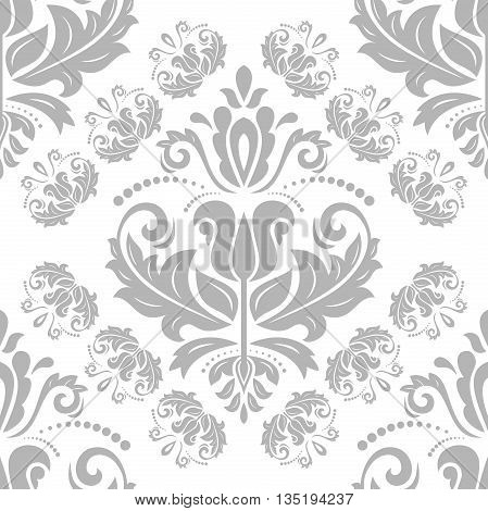 Oriental classic grey ornament. Seamless abstract background