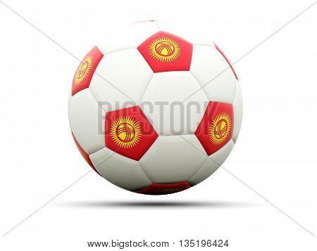 Flag Of Kyrgyzstan On Football