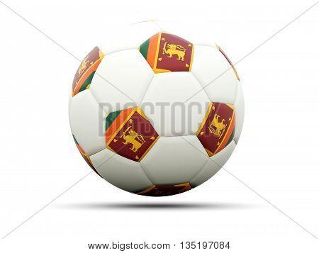 Flag Of Sri Lanka On Football