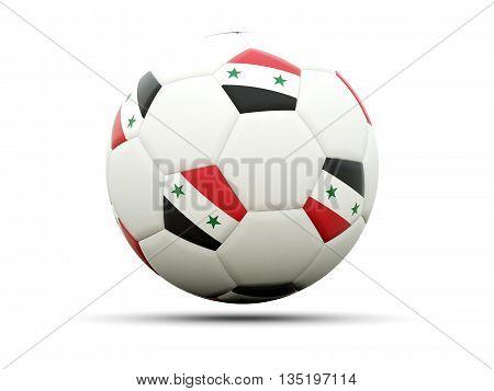 Flag Of Syria On Football