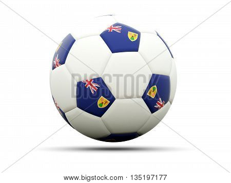 Flag Of Turks And Caicos Islands On Football
