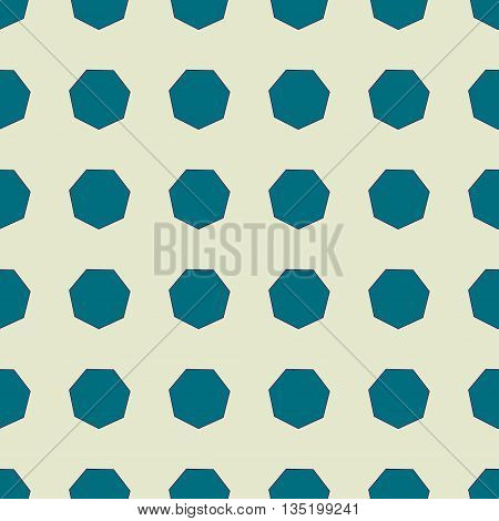 Heptagon seamless pattern. Fashion graphic background design. Modern geometric stylish abstract texture. Colorful template for prints textiles wrapping wallpaper website Stock VECTOR illustration