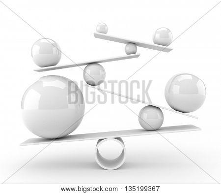 Balance concept - 3D rendering