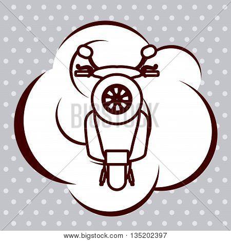 scooter pop art design, vector illustration eps10 graphic
