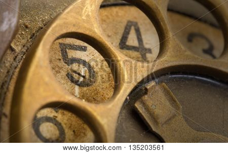 Close Up Of Vintage Phone Dial - 5