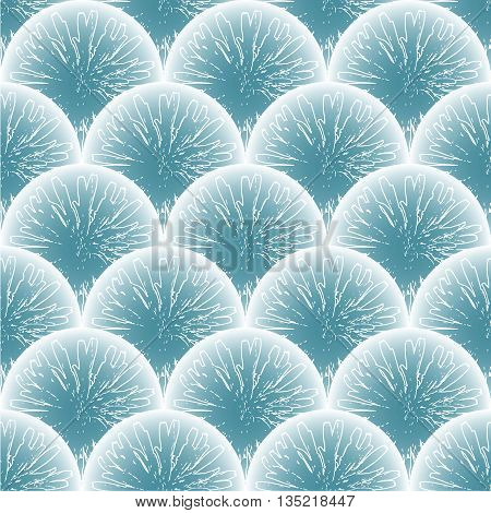 Vector seamless pattern. Abstract blue floral background.