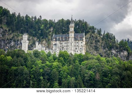 World-famous Neuschwanstein Castle, Near Fussen, Southwest Bavaria, Germany