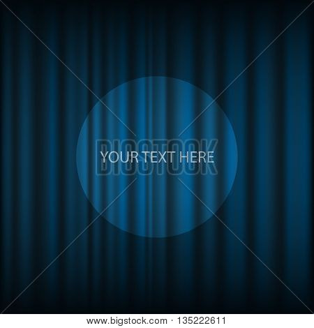 Blue theater curtain vector eps 10 illustration