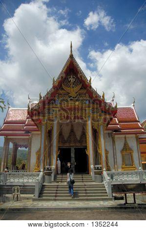 Temple At Wat Chalong, Phuket, Thailand