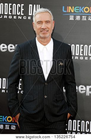 Roland Emmerich at the Los Angeles premiere of 'Independence Day: Resurgence' held at the TCL Chinese Theatre in Hollywood, USA on June 20, 2016.
