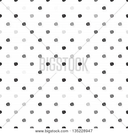 Seamless Background With Black Dots