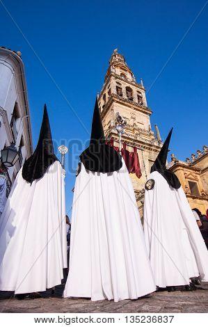 The extraordinarily Christian procession of the Semana Santa, Holy Week, in Cordoba, Spain.