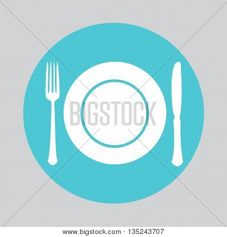 Dish fork and knife icon, Dish fork and knife icon vector, Dish fork and knife , Dish fork and knife flat icon, Dish fork and knife icon eps, Dish fork and knife icon jpg, - stock vector