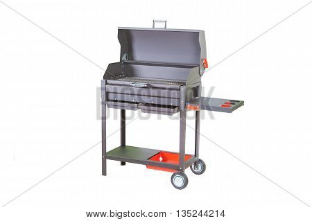 large outdoor chargrill or brazier isolated on white