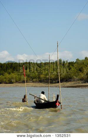 Fishermen In The River
