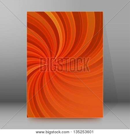 Brochure Cover Template Vertical Format Glowing Background34