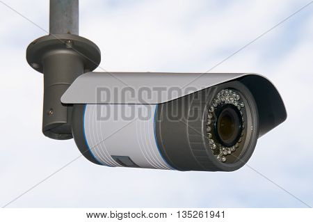 Close-up Closed circuit camera or Closed-circuit television (cctv)