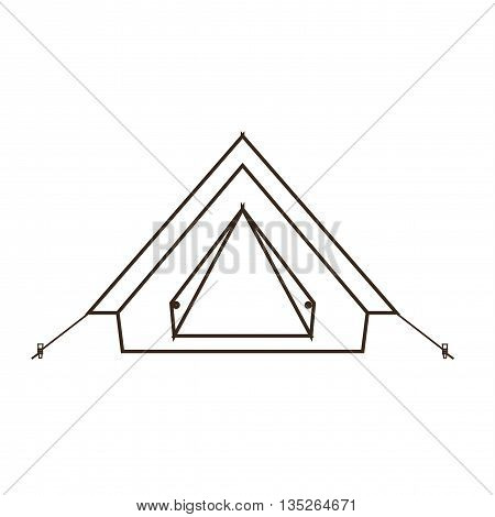 Camp tent icon. Isolated camping tent icon vector. Travel equipment tourism camp tent illustration for explore camping design