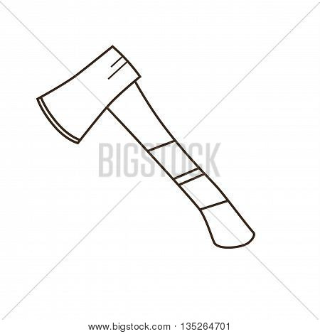 Tourism axe icon. Isolated camp axe vector. Travel equipment tourism axe illustration for explore camping design