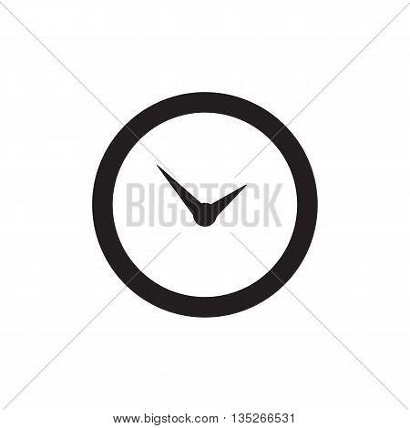 Time Or Clock Icon, Logo, Template, Pictogram. Modern Emblem For Business, Market, Shop, Internet, D