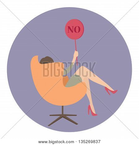 woman business say no show sign vector