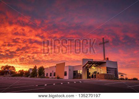 Stunning Church Sunrise