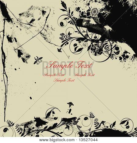 Ink splash background poster