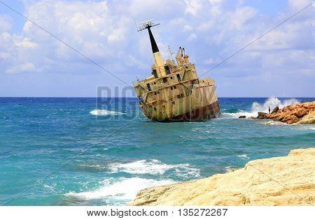 Erdo III shipwreck place in Mediterranean Sea, Cyprus