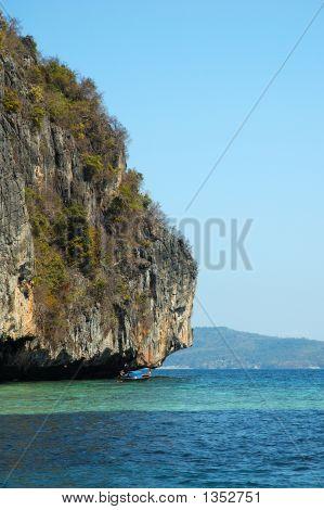 Rocky Phi Phi Don Island, Phuket, Thailand.