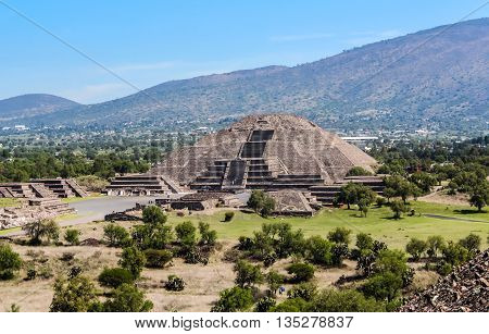 Pyramid of the Moon, Teotihuacan in Mexico