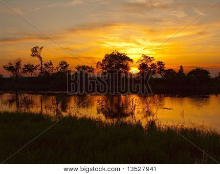 Sunset On The River Tunguska