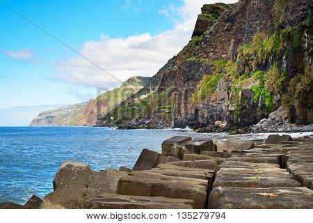 Coastal landscape in Madeira island in Portugal