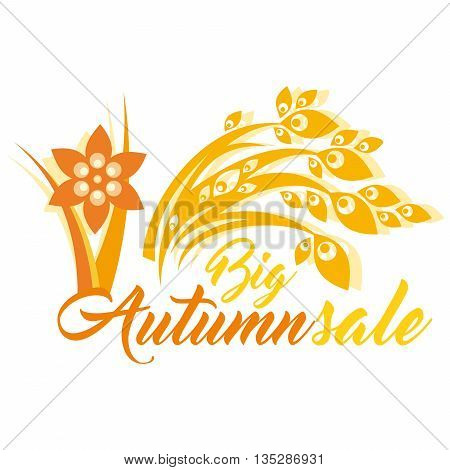 An abstract Autumn theme mnemonic with the caption Big Autumn Sale