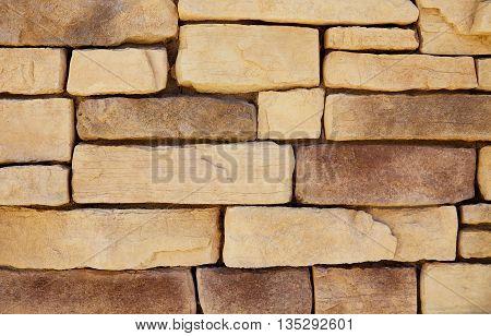 Mineralized Limestone Cliff Ledge Wall