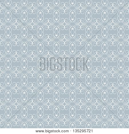 Seamless patterns with abstract decorative ornament. Vector