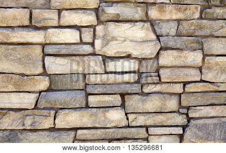 Decorative Natural Limestone Ledge Mortar Wall